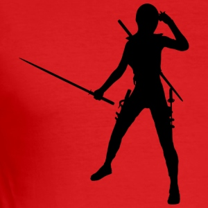 Ninja / Samurai / Assasin with sword as a gift - Men's Slim Fit T-Shirt