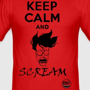 Keep calm and scream - Tee shirt près du corps Homme