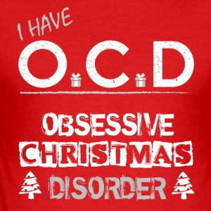 OCD Kerstmis - slim fit T-shirt