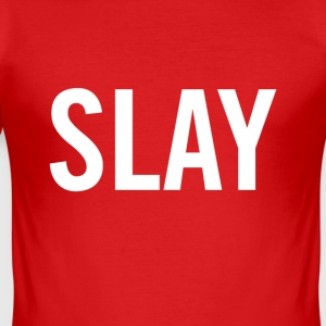 vit Slay - Slim Fit T-shirt herr