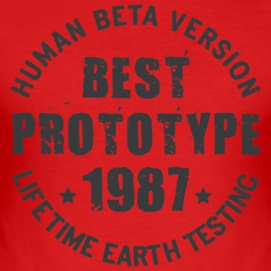 1987 - The year of birth of legendary prototypes - Men's Slim Fit T-Shirt