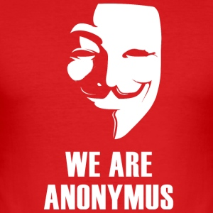 anonymus mask anti Demo politically white.Face - Men's Slim Fit T-Shirt