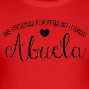 Favoritas Abuela - Männer Slim Fit T-Shirt