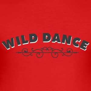 WILD DANCE with ornament - Men's Slim Fit T-Shirt