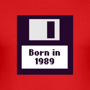 1989 Diskette Born - Männer Slim Fit T-Shirt