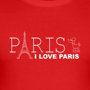 I LOVE PARIS - Männer Slim Fit T-Shirt