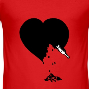 destroyed heart - Tee shirt près du corps Homme