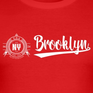 New York City · Brooklyn - Tee shirt près du corps Homme