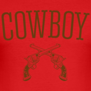 Western cowboy - Slim Fit T-skjorte for menn