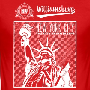 New York City · Williamsburg - Men's Slim Fit T-Shirt