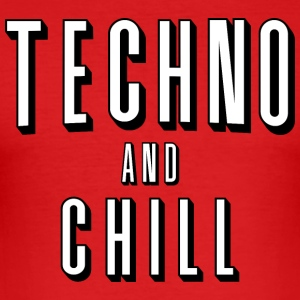 Techno and chill - Men's Slim Fit T-Shirt