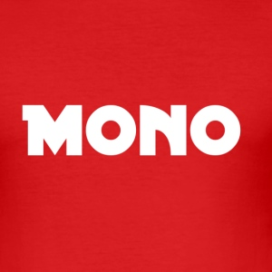 Mono in white - Men's Slim Fit T-Shirt