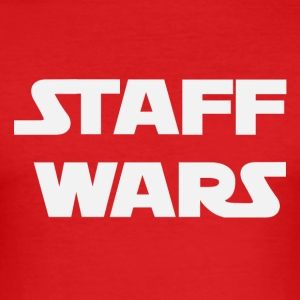 Staff Wars (2181) - Männer Slim Fit T-Shirt