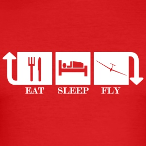 Eat Sleep Fly Repeat - Männer Slim Fit T-Shirt