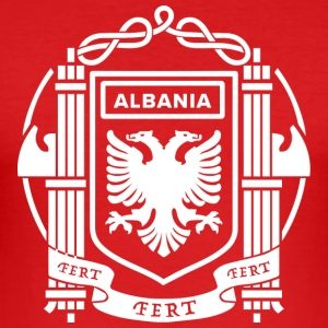 Flag of the Kingdom of Albania 39-43 - Men's Slim Fit T-Shirt