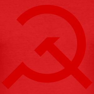 Simple Hammer and Sickle - Men's Slim Fit T-Shirt
