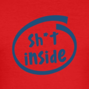 sh * t innsiden (1821C) - Slim Fit T-skjorte for menn