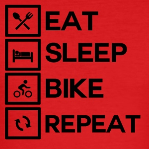 Bike Rythm - Eat Sleep Bike Repeat - Männer Slim Fit T-Shirt