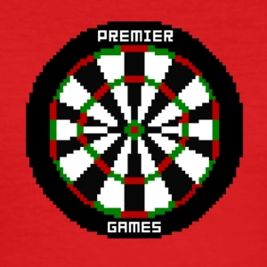 premier games pixelated dartboard - Men's Slim Fit T-Shirt