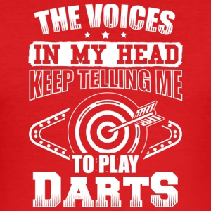 DART THE VOICES IN MY HEADDARTS - Men's Slim Fit T-Shirt