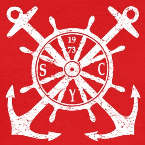 Anchor wheel logo - Men's Slim Fit T-Shirt