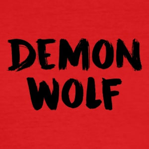 Dämon Wolf Text Design Schwarz - Männer Slim Fit T-Shirt