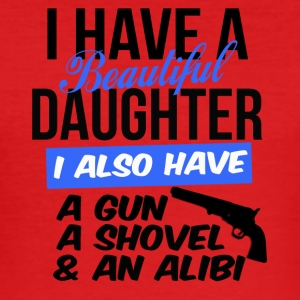 i have a beautiful daughter i also have a gun - Männer Slim Fit T-Shirt