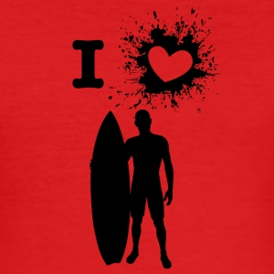 iLove surfing - Slim Fit T-skjorte for menn