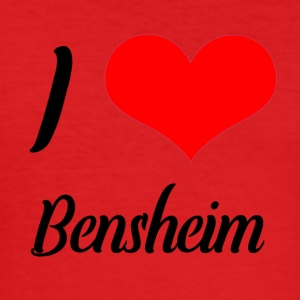 I love Bensheim - Männer Slim Fit T-Shirt