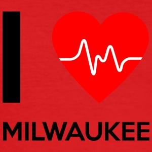 I Love Milwaukee - I love Milwaukee - Men's Slim Fit T-Shirt