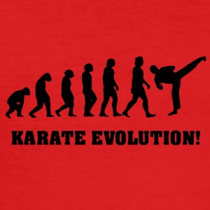 Karate evolutie - slim fit T-shirt