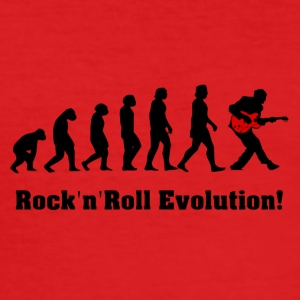rockandroll evolution, rock, gitarr - Slim Fit T-shirt herr