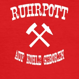 born ruhrpott on coal - Men's Slim Fit T-Shirt