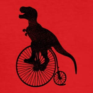 T-Rex Bicycle - Men's Slim Fit T-Shirt