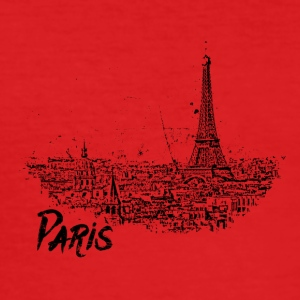 Paris - Cityscape sketch med Eiffeltornet - Slim Fit T-shirt herr