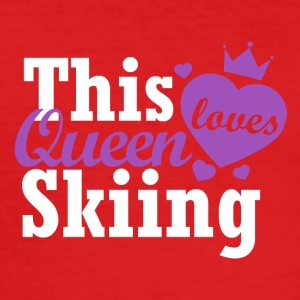 This queen loves skiing - Men's Slim Fit T-Shirt