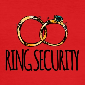Bryllup / Ekteskap: Ring Security - Slim Fit T-skjorte for menn