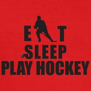 SLEEP EAT JEU HOCKEY - Tee shirt près du corps Homme