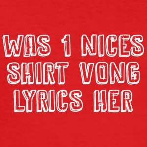 Wat men nices overhemd vong Lyrics geleden - slim fit T-shirt