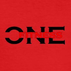 ONE FITNESS Logo (Without Globe) - Men's Slim Fit T-Shirt