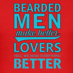 Bebaarde mannen / Bearded Men Grappige Shirt - slim fit T-shirt