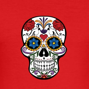 Skull and roses - Men's Slim Fit T-Shirt