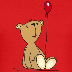 Teddy Bear Balloon cuddly children's toys - Men's Slim Fit T-Shirt
