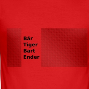 Bär Tiger Bart Ender - Männer Slim Fit T-Shirt