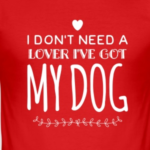 Dog Love - Männer Slim Fit T-Shirt