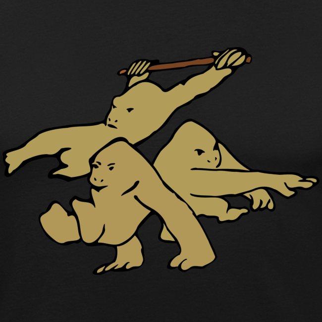 Three Parkour Monkeys
