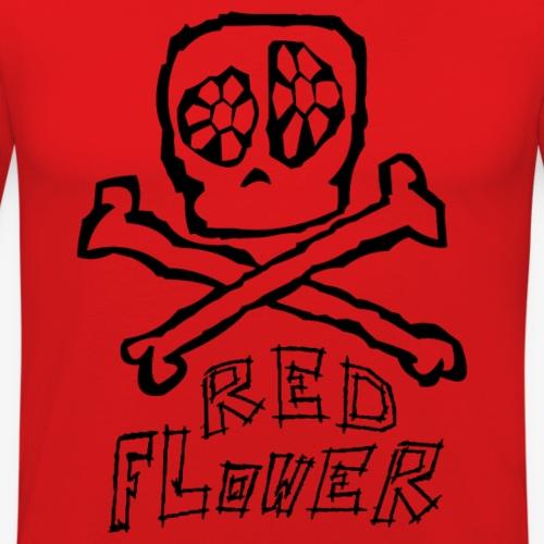 redFlower arr png - Männer Slim Fit T-Shirt