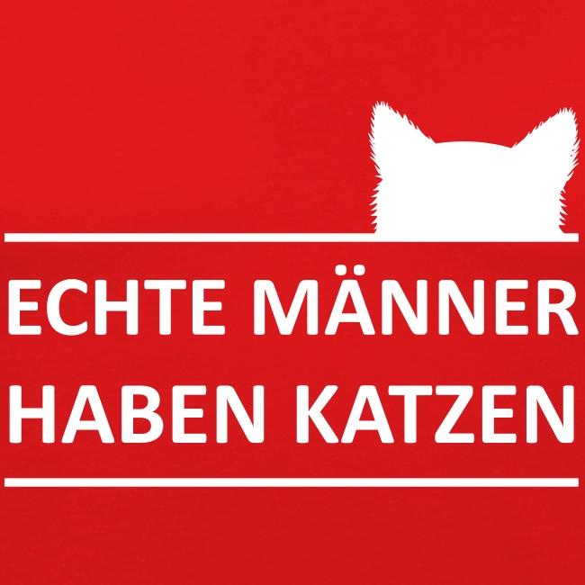 Vorschau: Echte Männer haben Katzen - Männer Slim Fit T-Shirt