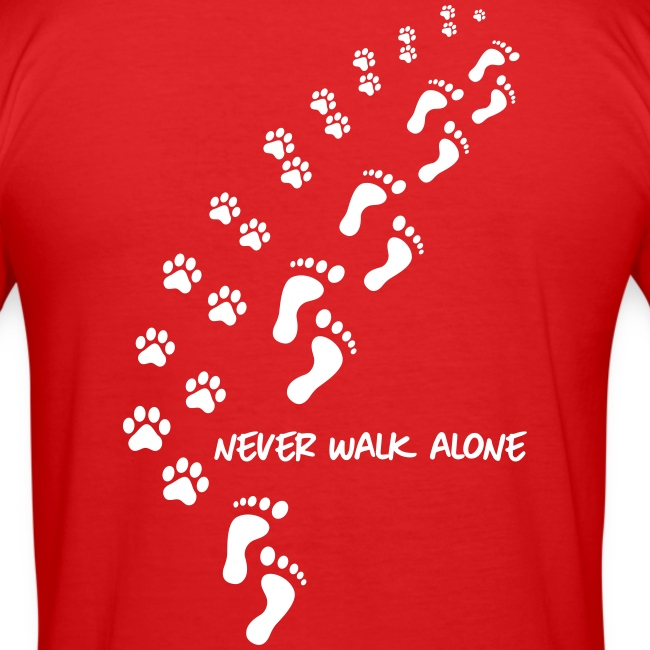 Vorschau: never walk alone dog - Männer Slim Fit T-Shirt