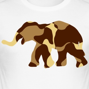 Elephant Camo / Camouflage - Herre Slim Fit T-Shirt